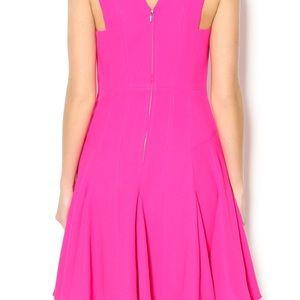 50a7e95e3ed Rebecca Taylor Dresses - REBECCA TAYLOR Crepe V Neck Pink Fuschia Dress 4